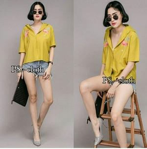 Baju Hem Kemeja Wanita Lengan Pendek Modern Model Terbaru dan Murah
