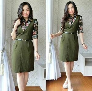 Baju Mini Dress Pendek Lengan Panjang Busui Motif Cantik Modern Model Terbaru