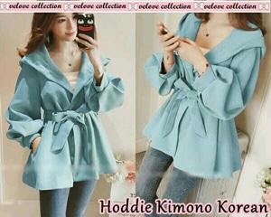 Jaket Hoodie Wanita Desain Model Kimono Terbaru Modern Cantik dan Keren