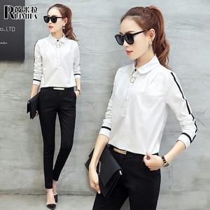 Model Baju Hem Kemeja Kerja Wanita Warna Hitam dan Putih Modern Terbaru