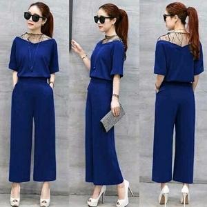 Setelan Baju dan Celana Wanita Kombinasi Tile Modis Cantik Model Terbaru