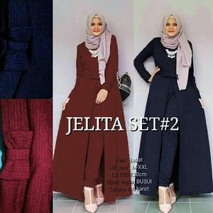 Setelan Muslimah Baju Maxi dan Celana Modis Model Terbaru Modern dan Murah