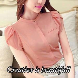 Baju Atasan Wanita Blouse Lengan Pendek Cantik Bahan Twiscone Model Terbaru