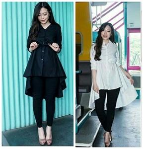 Baju Atasan Wanita Blouse Model Pinguin Cantik Modern Modis Model Terbaru