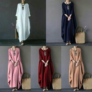 Baju Dress Panjang Long Dress Gamis Polos Modern Desain Cantik Model Terbaru