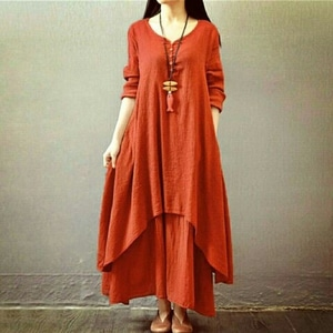 Baju Dress Panjang Long Dress Gamis Susun Polos Modern Model Terbaru Murah