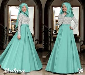 Baju Gamis Long Dress Pesta Setelan Hijab Muslimah Modern Model Terbaru Cantik