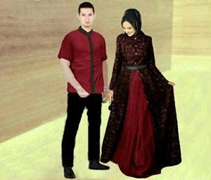 Baju Gamis Long Dress Dan Kemeja Couple Muslim Model Terbaru Modern