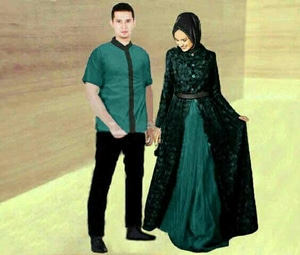 Baju Gamis Long Dress Dan Kemeja Couple Muslim Model