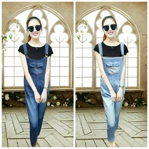 Baju Jumpsuit Celana Kodok Panjang Wanita Bahan Jeans Wash Model Terbaru