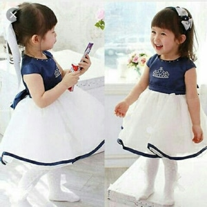 Baju Mini Dress Pendek Anak Perempuan Kombinasi Tile Cantik Lucu Model Terbaru