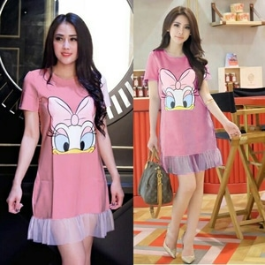 Baju Mini Dress Pendek Tile Style Fashion Wanita Cantik Murah Model Terbaru