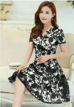 Model Baju Mini Dress Brukat Pendek Wanita Cantik Terbaru Desain