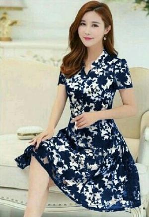 Model Baju Mini Dress Brukat Pendek Wanita Cantik Terbaru ...