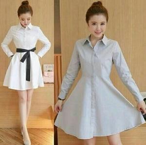 Model Baju Mini Dress Pendek Fashion Wanita Lengan Panjang Cantik Terbaru