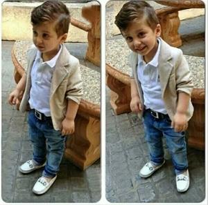 Setelan Baju Jas dan Celana Panjang Anak Laki-laki Keren Modern Model Terbaru