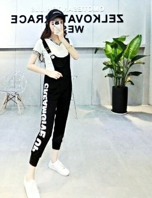 Setelan Baju Jumpsuit Celana Kodok Wanita Modern Model Terbaru Cantik ala Korea