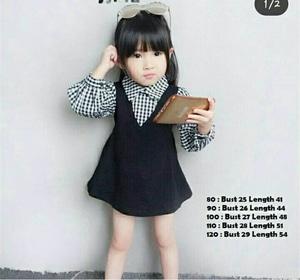 Setelan Baju Jumpsuit Overall Rok Kodok Mini Pendek Anak Perempuan Cantik Lucu