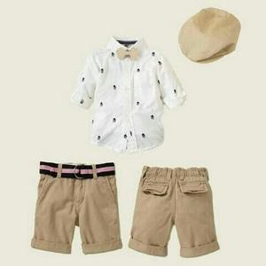 Setelan Baju Kemeja Dasi Topi dan Celana Anak Laki-laki Keren Model Terbaru Modern