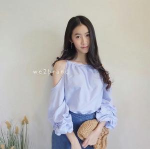 Baju Atasan Wanita Blouse Bahu Bolong Cantik Model Terbaru Modern dan Murah