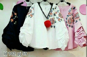 Baju Atasan Wanita Blouse Hijab Lengan Panjang Model Balon Modis Terbaru
