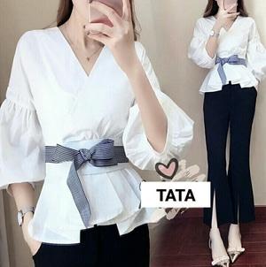 Baju Atasan Wanita Blouse Model Kimono Terbaru Modern Cantik Modis Masa Kini