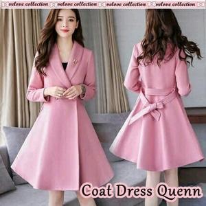 Baju Blazer Panjang Coat Wanita Modern Cantik Modis ala Korea Model Terbaru