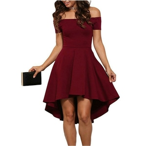 Baju Dress Pendek Pesta Wanita Model Sabrina Cantik Modern Terbaru dan Murah