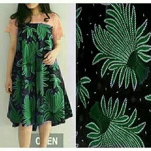 Baju Mini Dress Pendek Motif Batik Kombinasi Brukat Ukuran Jumbo (Big Size) Modern