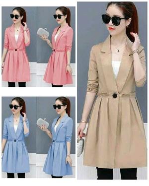 Blazer Coat Wanita ala Korea Cantik Modern Desain Model Terbaru Masa Kini Murah
