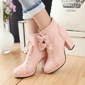 Sepatu Boots High Heels Pita Wanita Modern Model Terbaru Keren Cantik Murah