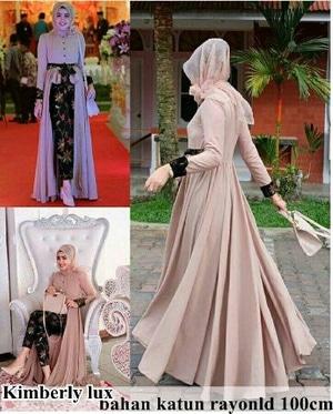 Setelan Baju Kebaya Kondangan Wanita Muslim Maxi dan Celana Motif Batik Model Terbaru