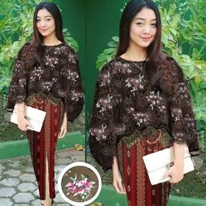Setelan Baju Kebaya Wanita Outer Brukat Dan Rok Batik Panjang Modern Model Terbaru