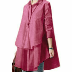 Baju Atasan Wanita Blouse Hijab Susun Lengan Panjang Modern