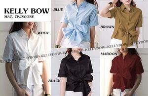 Baju Atasan Wanita Blouse Pita Lengan Pendek Model Terbaru
