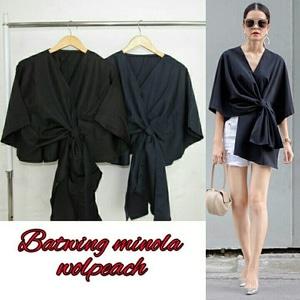 Baju Atasan Wanita Lengan Pendek Blouse Batwing Model Terbaru Modern dan Murah