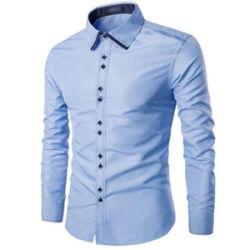 Baju Kemeja Hem Cowok Lengan Panjang Keren Modern