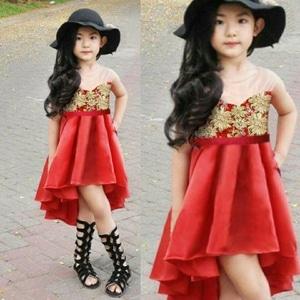 Baju Mini Dress Mermaid Pendek Pesta Anak Perempuan