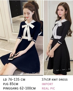 Baju Mini Dress Pendek Aplikasi Pita Cantik Model Terbaru