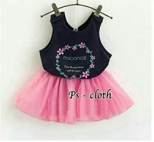 Baju Mini Dress Pendek Cantik Lengan Buntung Anak Perempuan
