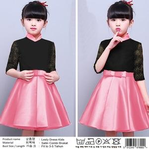 Baju Mini Dress Pendek Pesta Anak Perempuan Warna Pink