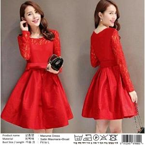 Baju Mini Dress Pendek Pesta Wanita Warna Merah Cantik