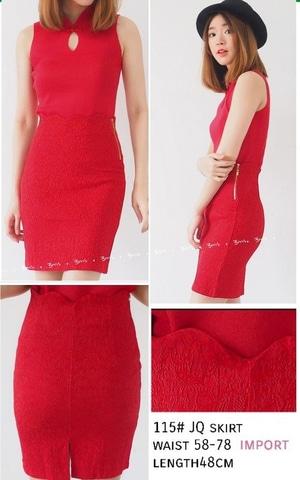 Baju Mini Dress Pendek Wanita Warna Merah Lengan Buntung