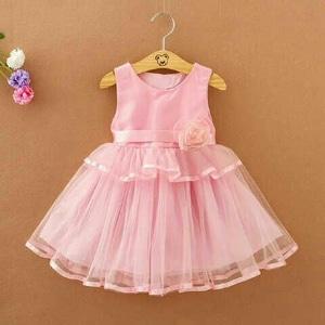 Baju Mini Dress Pesta Pendek Anak Perempuan Warna Pink Model Terbaru