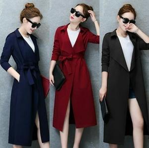 Blazer Long Coat Wanita Korea Modern Cantik Model Terbaru