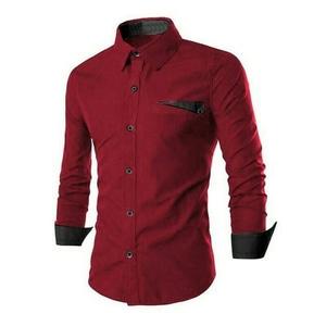 Model Baju Kemeja Hem Pria Lengan Panjang Modern Terbaru