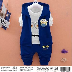 Setelan Baju Cardigan dan Celana Panjang Anak Laki-laki
