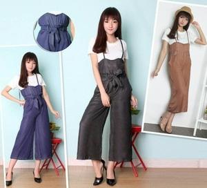 Setelan Baju Jumpsuit Wanita Modis Cantik Model Terbaru Modern ala Korea