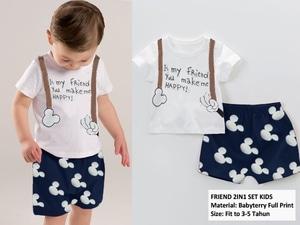 Setelan Baju Kaos Dan Celana Pendek Anak Laki-laki Keren