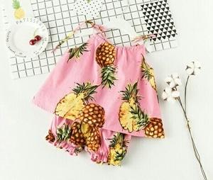 Setelan Baju Lengan Buntung dan Celana Pendek Anak Perempuan Lucu Model Terbaru